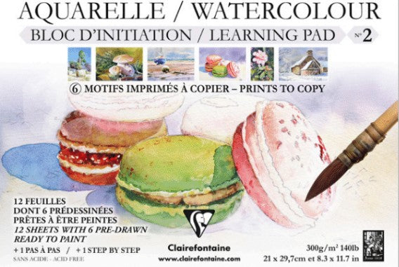Clairefontaine - Watercolour Learning Pad - No.2 (4633167659095)