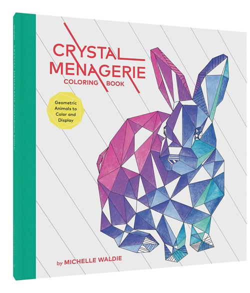 Chronicle Books - Crystal Menagerie Coloring Book (4636455272535)