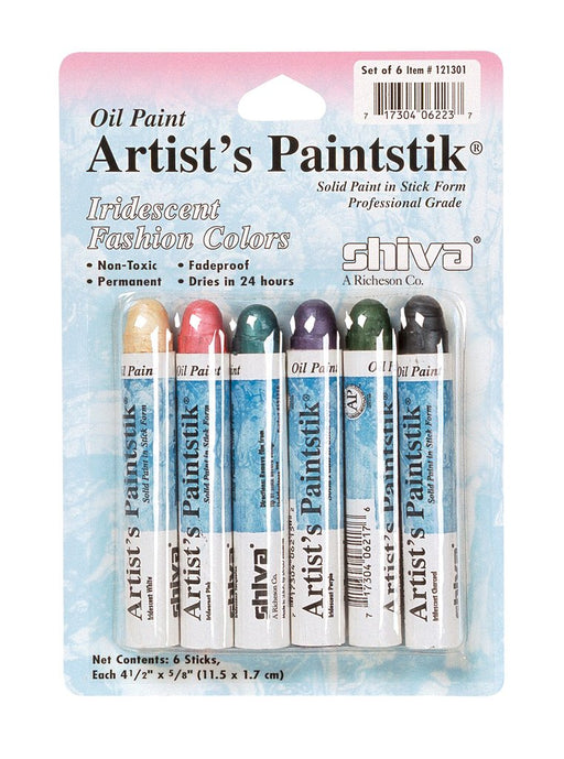 Jack Richeson - Shiva Paintstik - Set of 6 Iridescent Fashion Colours (4546963996759)