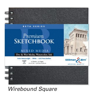 "Stillman Birn- BETA Hardcover Wirebound Watercolour Sketchbook - 7x7"" (4633096716375)"