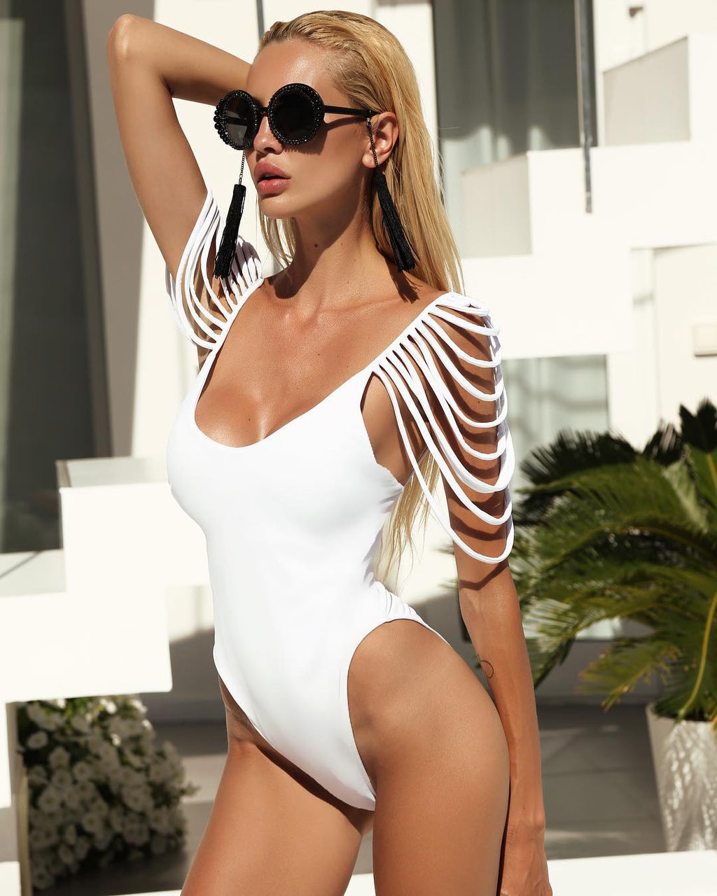 white one piece