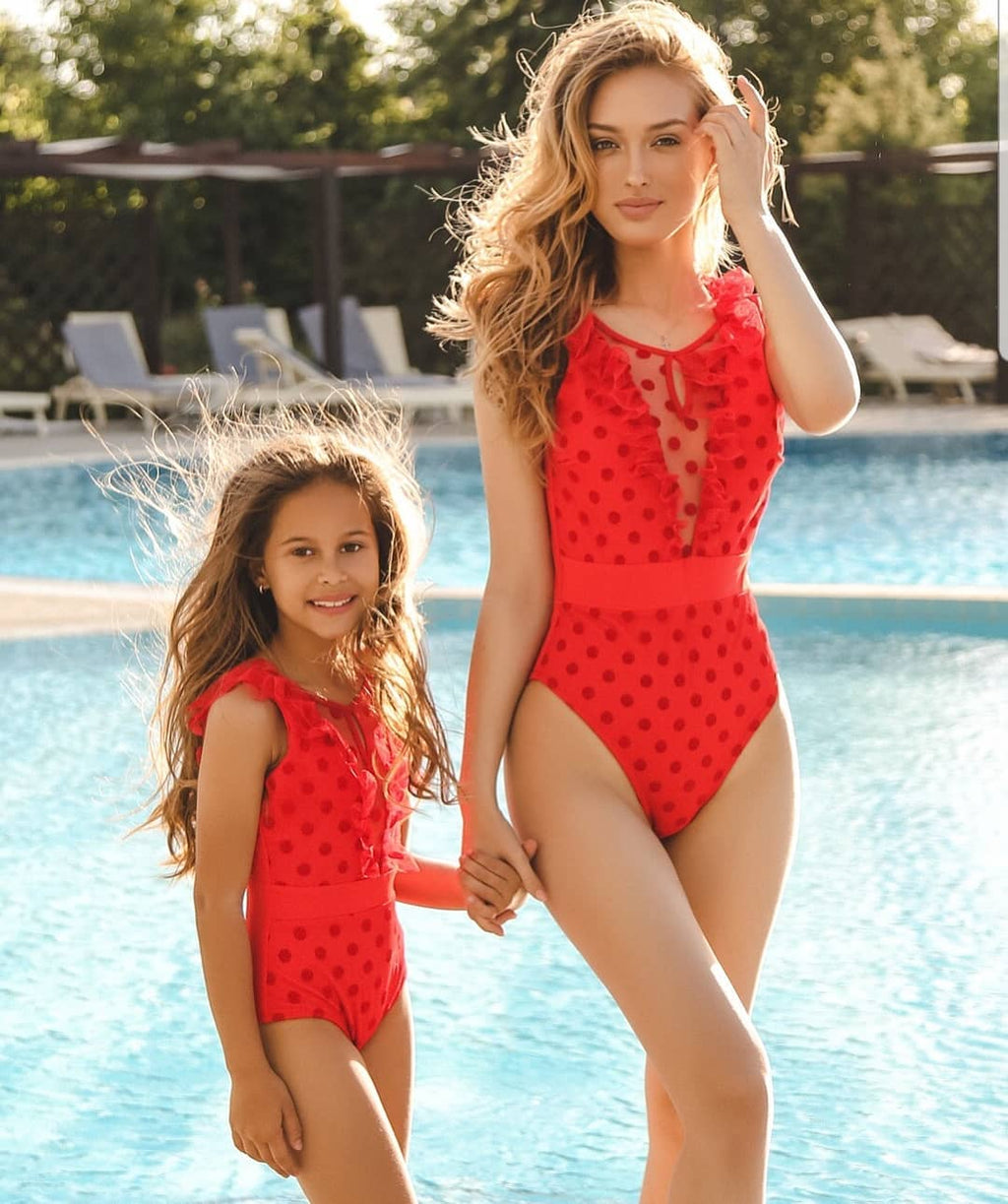 Beach kids bikini for mother and daughter