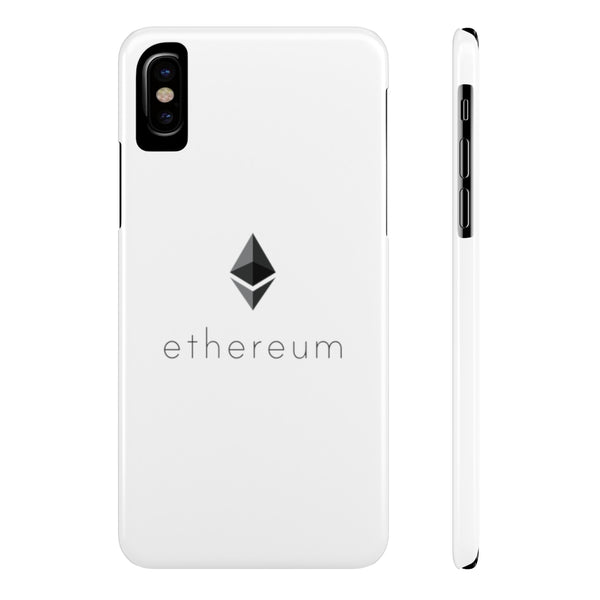 Ethereum logo - Case Mate Slim Phone Cases