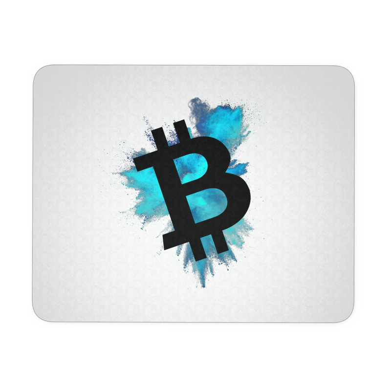 Bitcoin color cloud - Mousepad