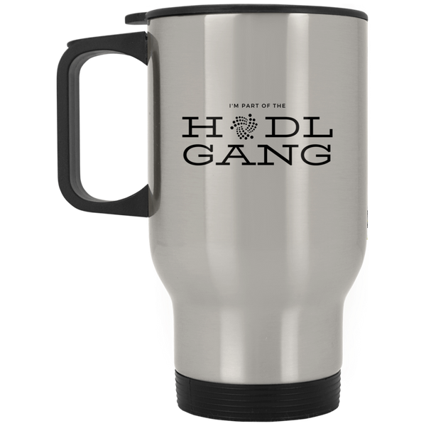 Hodl gang (Iota) - Silver Stainless Travel Mug