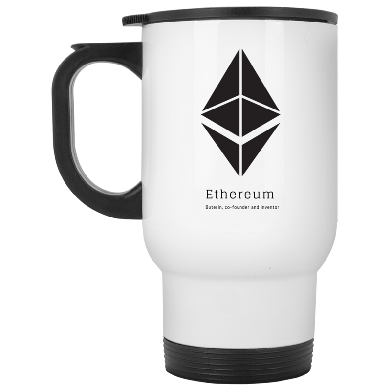 Buterin, co-founder and inventor - White Travel Mug