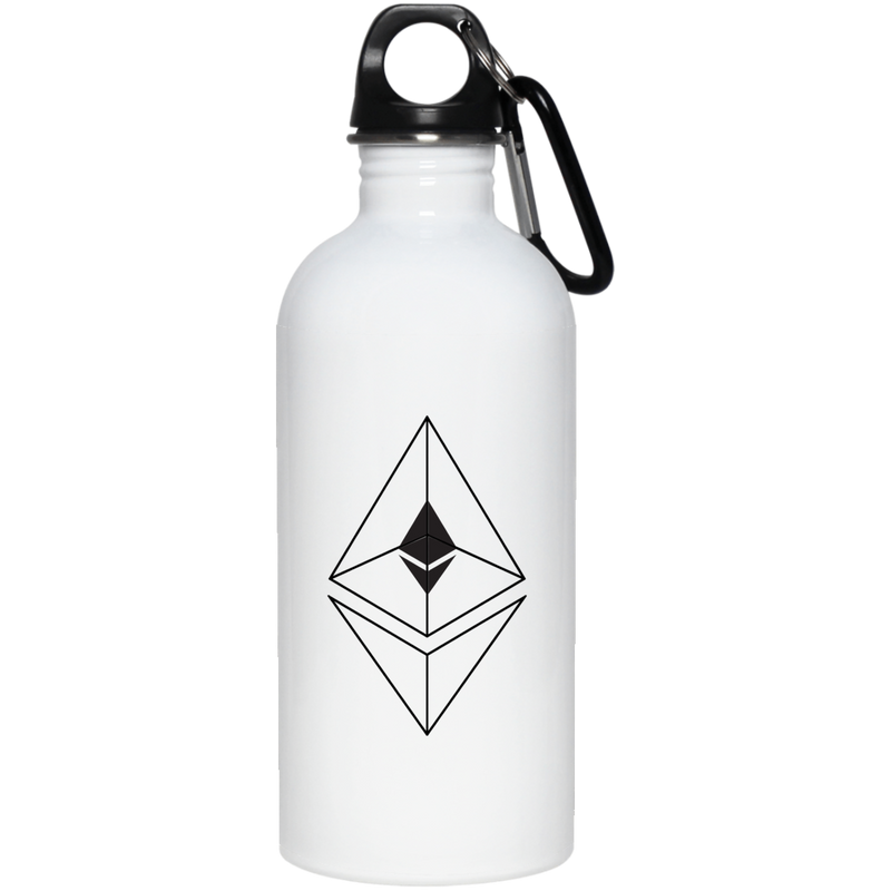 Ethereum line design - 20 oz. Stainless Steel Water Bottle