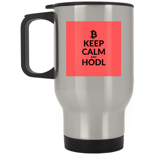 Keep clam - Silver Stainless Travel Mug