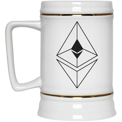 Ethereum line design - Beer Stein 22oz.