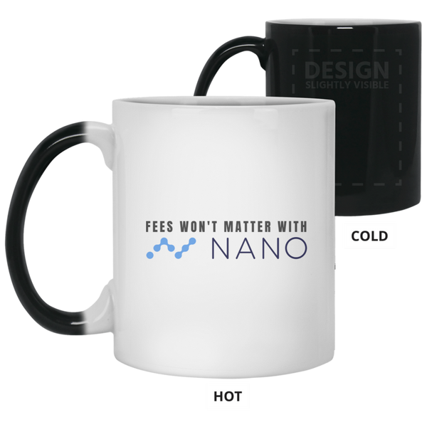 Fees won't matter with nano - 11oz. Color Changing Mug