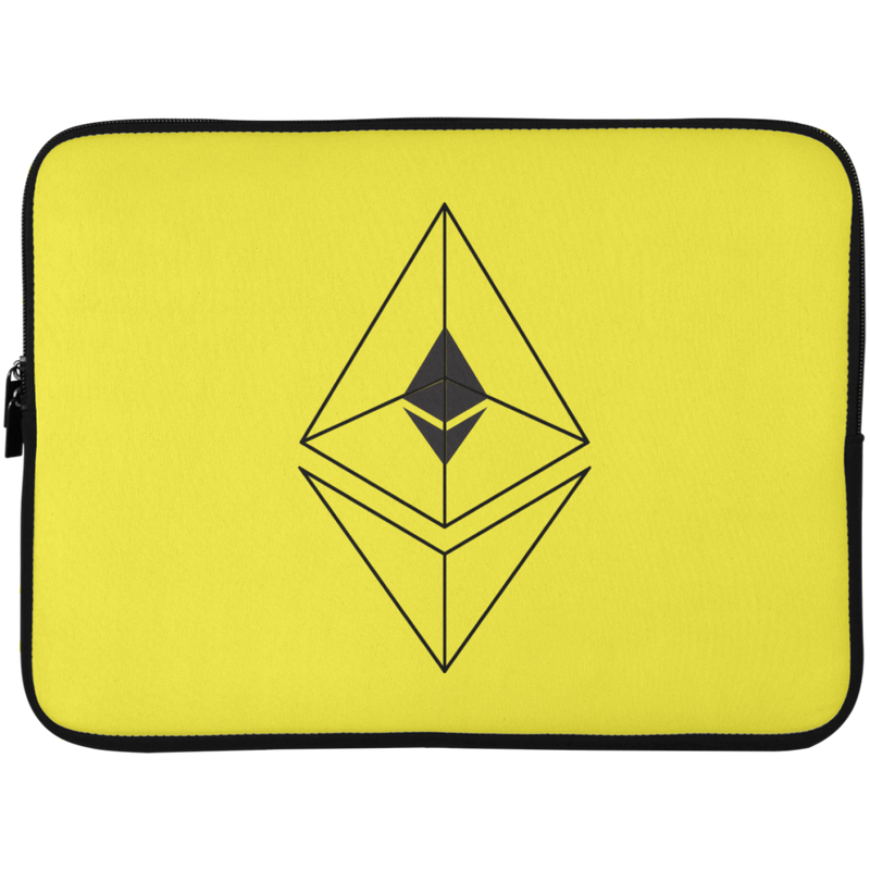 Ethereum line design - Laptop Sleeve - 15 Inch