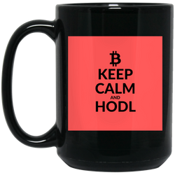 Keep clam - 15 oz. Black Mug