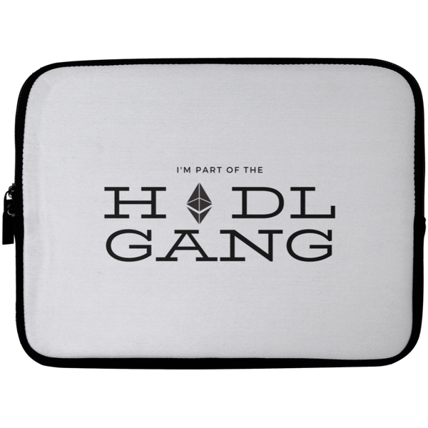 Hodl gang (Ethereum) - Laptop Sleeve - 10 inch