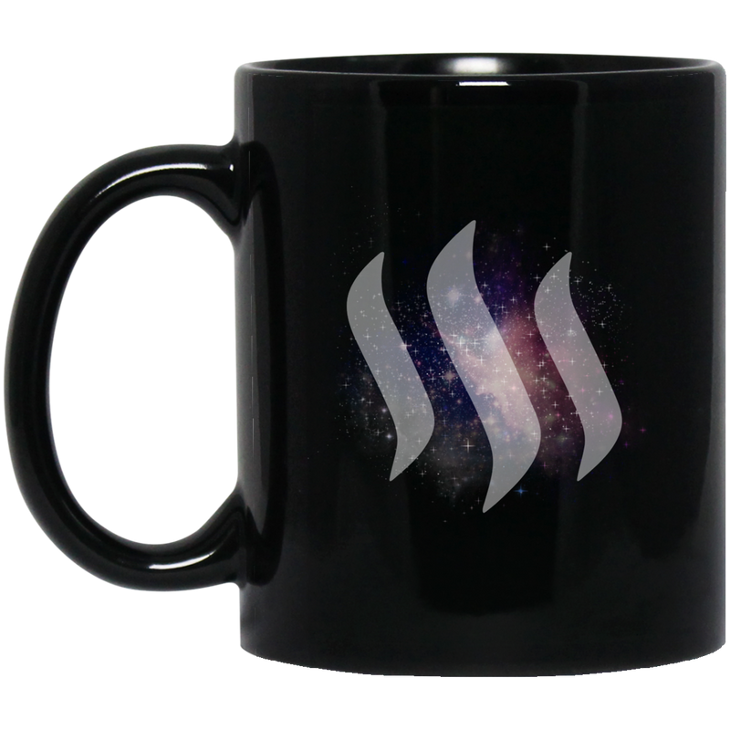 Steem universe - 11 oz. Black Mug