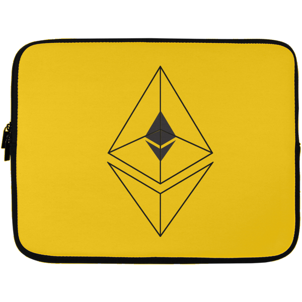 Ethereum line design - Laptop Sleeve - 13 inch