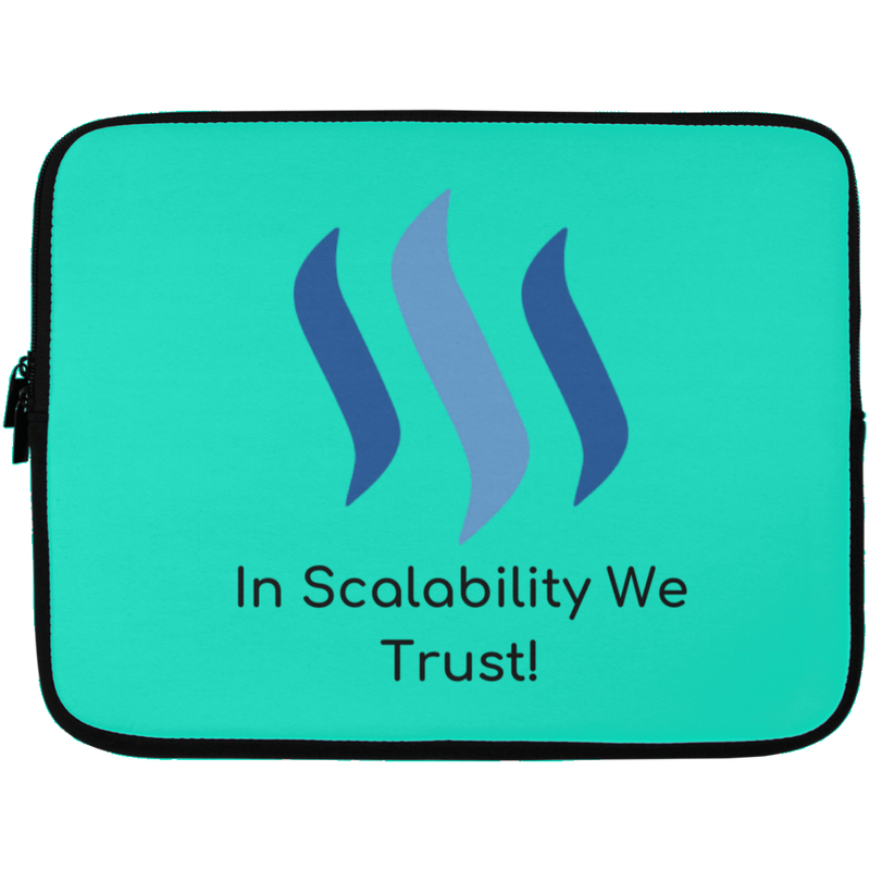 Steem in scalability we trust - Laptop Sleeve - 13 inch