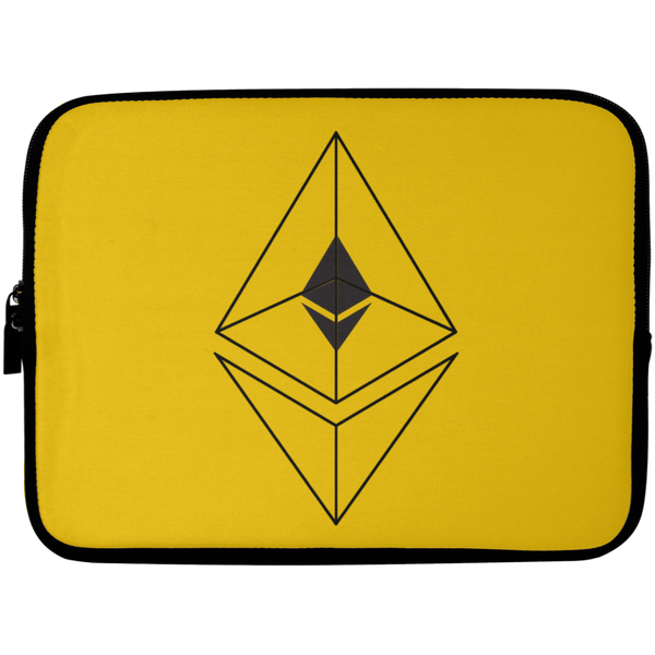 Ethereum line design - Laptop Sleeve - 10 inch