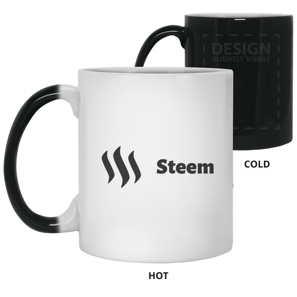 Steem black - 11 oz. Color Changing Mug