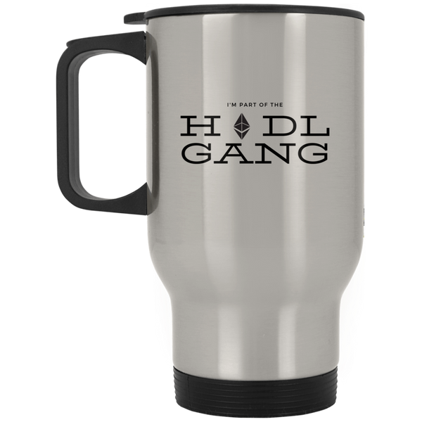 Hodl gang (Ethereum) - Silver Stainless Travel Mug