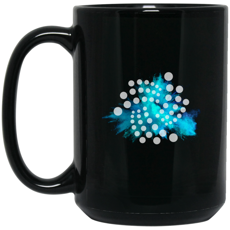 Iota color cloud - 15 oz. Black Mug