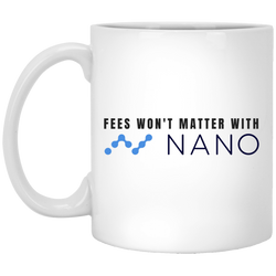 Fees won't matter with nano - 11oz. White Mug