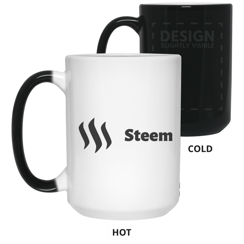 Steem black - 15 oz. Color Changing Mug