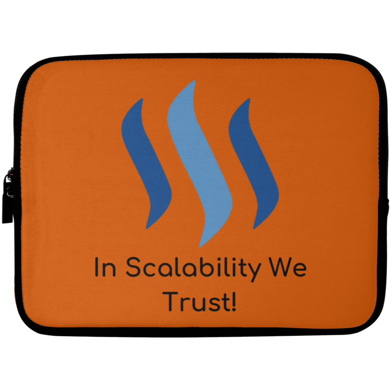Steem in scalability we trust - Laptop Sleeve - 10 inch