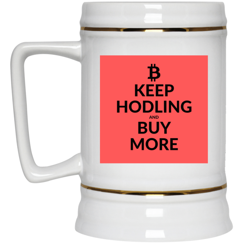 Keep Hodling - Beer Stein 22oz.