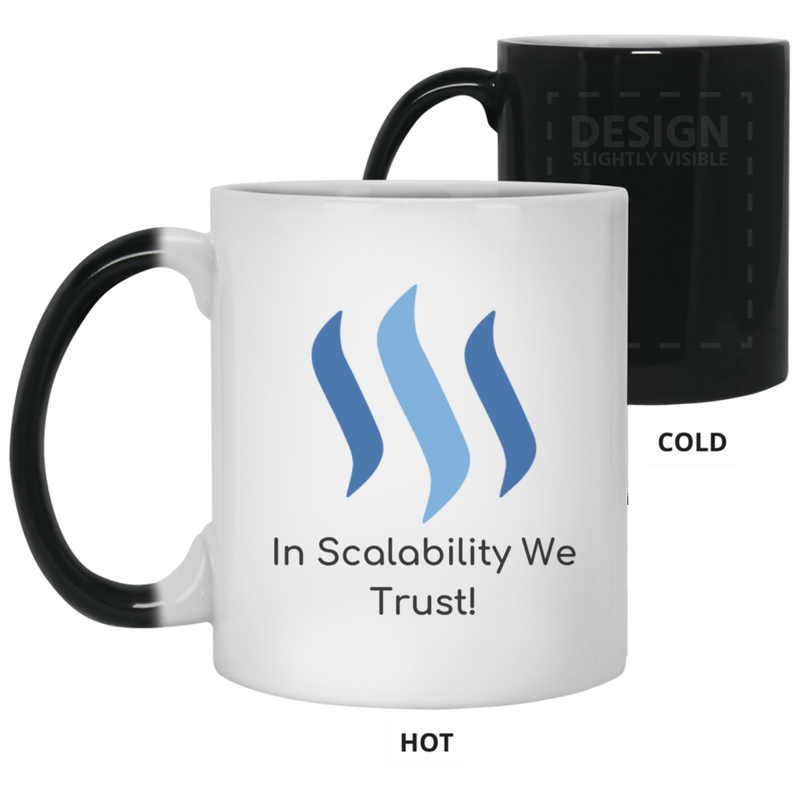 Steem in scalability we trust - 11 oz. Color Changing Mug