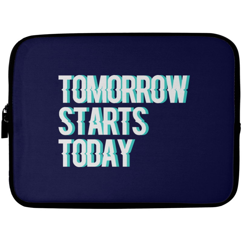 Tomorrow starts today (Zilliqa) - Laptop Sleeve - 10 inch