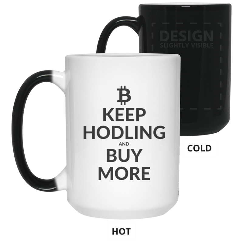 Keep hodling - 15 oz. Color Changing Mug