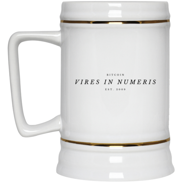 Vires in numeris - Beer Stein 22oz.