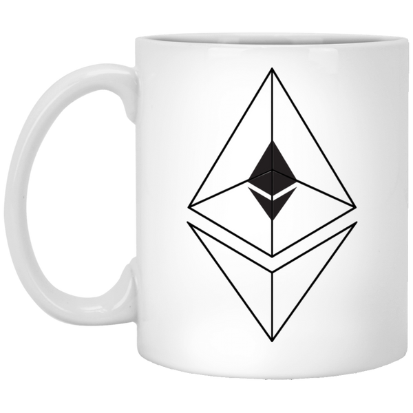 Ethereum line design - 11oz. White Mug