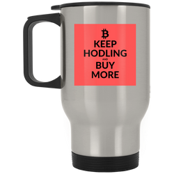 Keep hodling - Silver Stainless Travel Mug