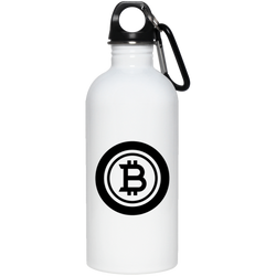 Bitcoin black - 20 oz. Stainless Steel Water Bottle