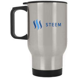 Steem - Silver Stainless Travel Mug