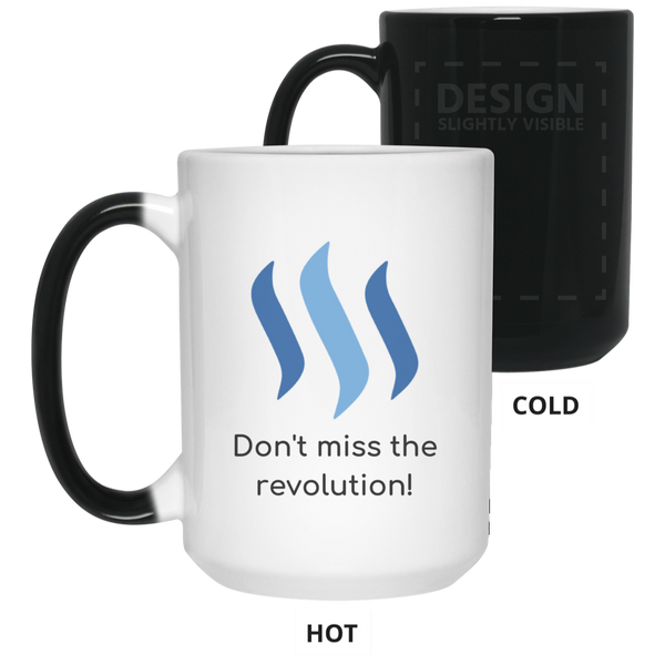 Steem don't miss the revolution - 15 oz. Color Changing Mug