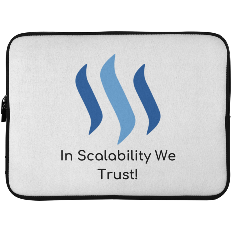 Steem in scalability we trust - Laptop Sleeve - 15 Inch