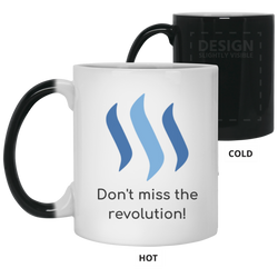 Steem don't miss the revolution - 11 oz. Color Changing Mug