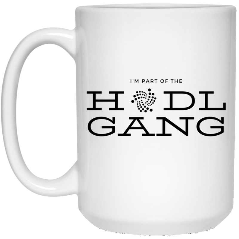 Hodl gang (Iota) - 15 oz. White Mug