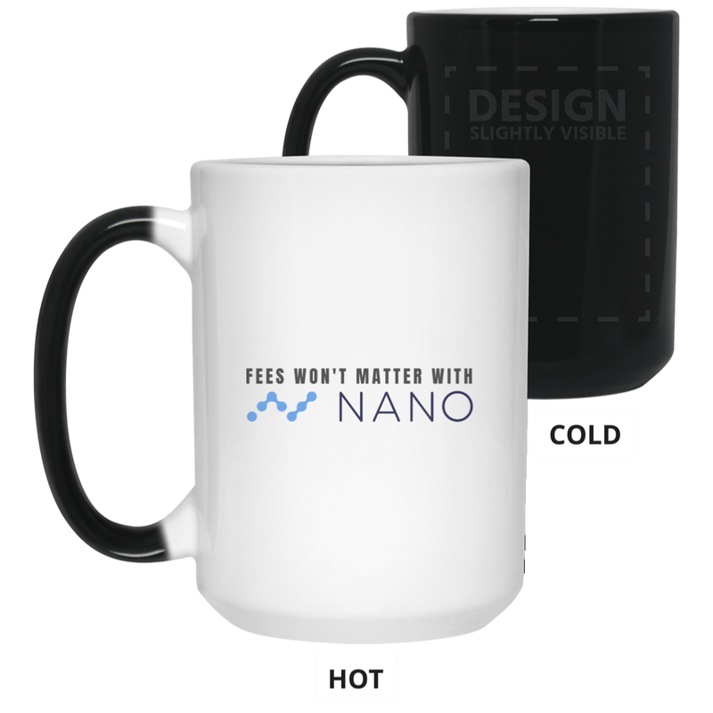 Fees won't matter with nano - 15 oz. Color Changing Mug