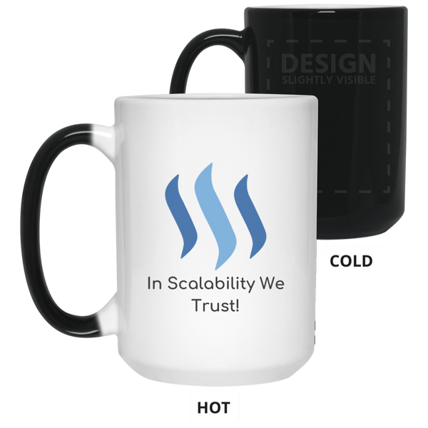 Steem in scalability we trust - 15 oz. Color Changing Mug