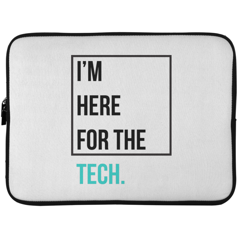 I'm here for the tech (Zilliqa) - Laptop Sleeve - 15 Inch