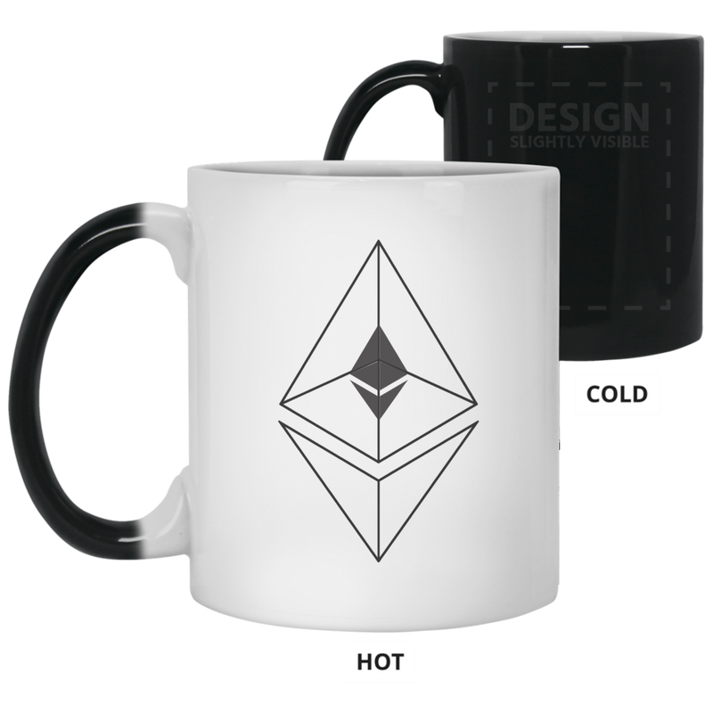 Ethereum line design - 11oz. Color Changing Mug
