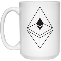 Ethereum line design - 15 oz. White Mug