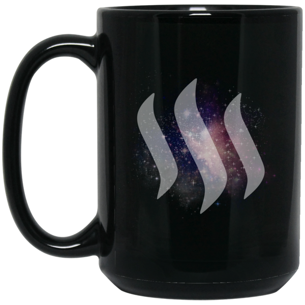 Steem universe - 15 oz. Black Mug