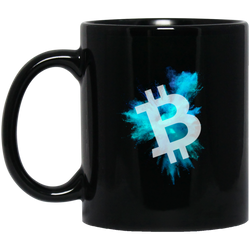 Bitcoin color cloud - 11 oz. Black Mug