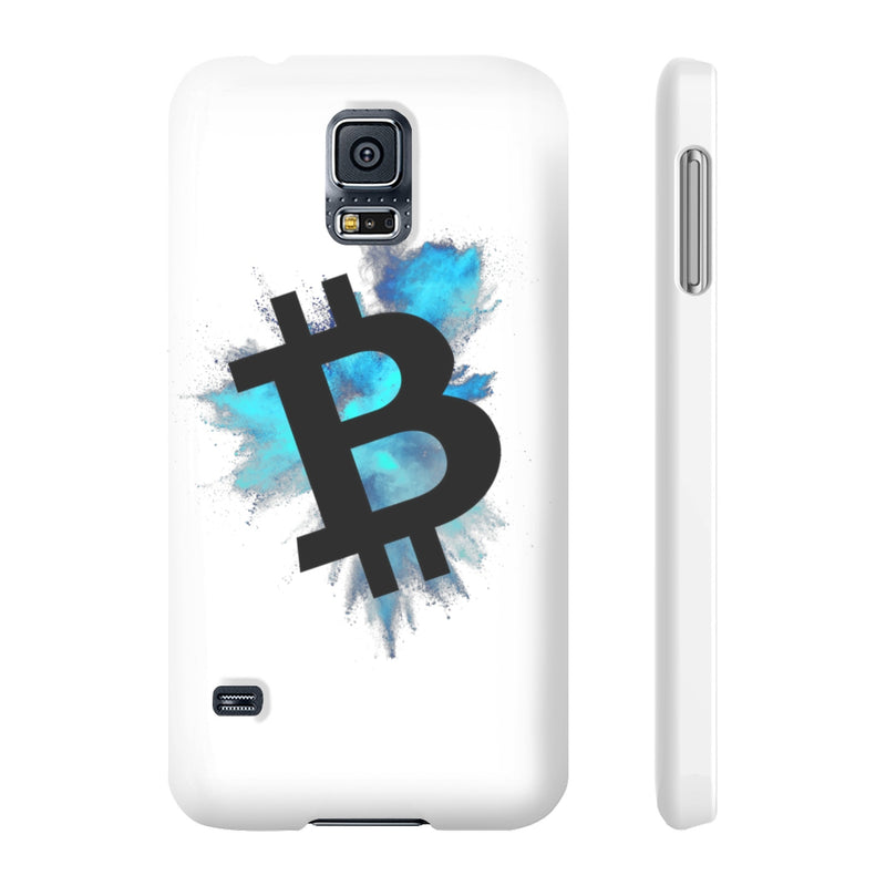 Bitcoin colour cloud - Case Mate Slim Phone Cases