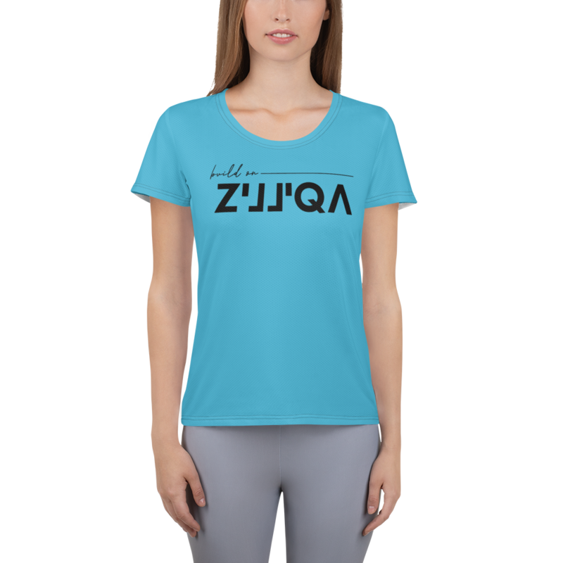 Build on Zilliqa – Women's Athletic T-shirt