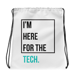 I'm here for the tech (Zilliqa) - Drawstring Bag